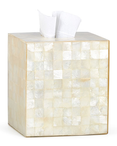 Capiz Ivory Tissue Box Cover