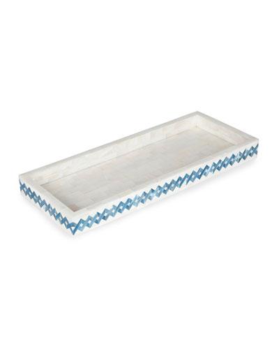 Blue Weave Vanity Tray