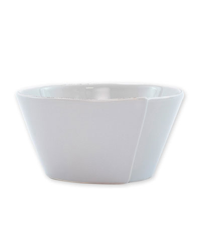 Lastra Stacking Cereal Bowl, Light Gray