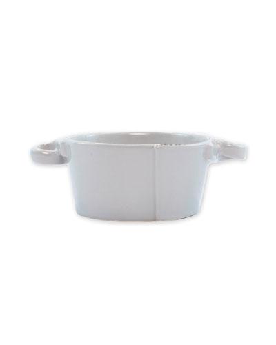 Lastra Small Handled Bowl, Light Gray