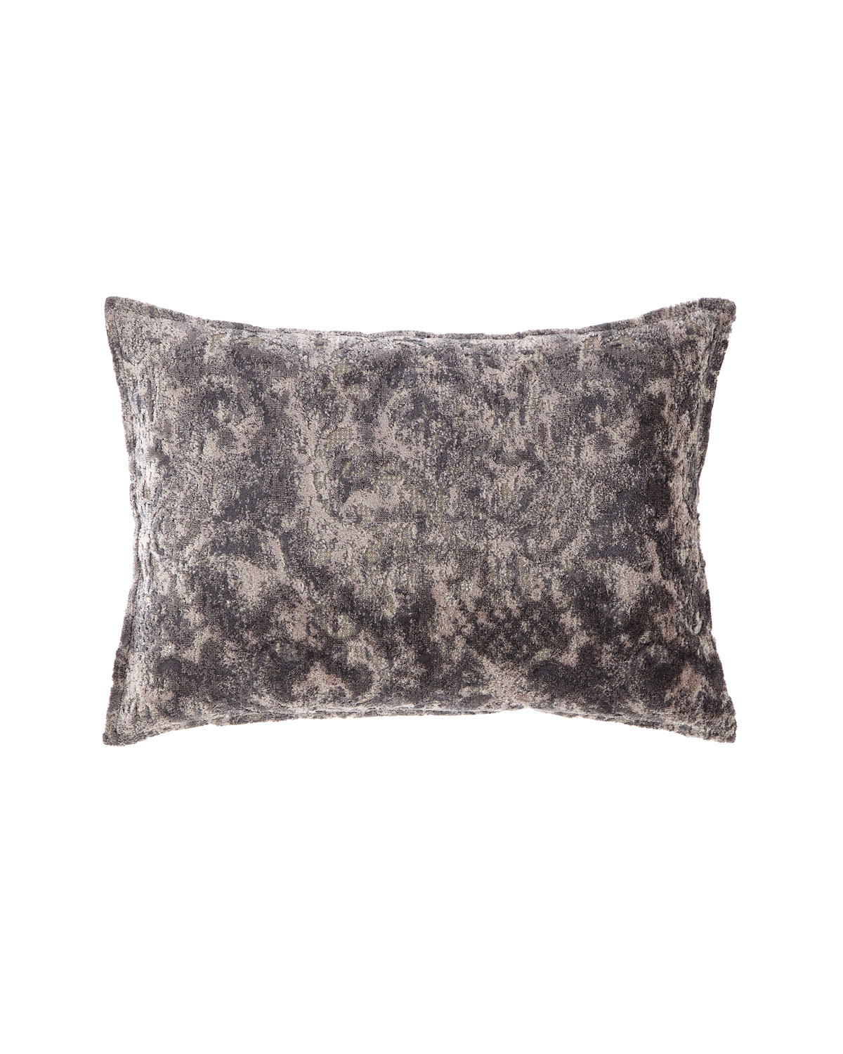 Fino Lino Linen & Lace VERBINA GRAY CHAISE PILLOW