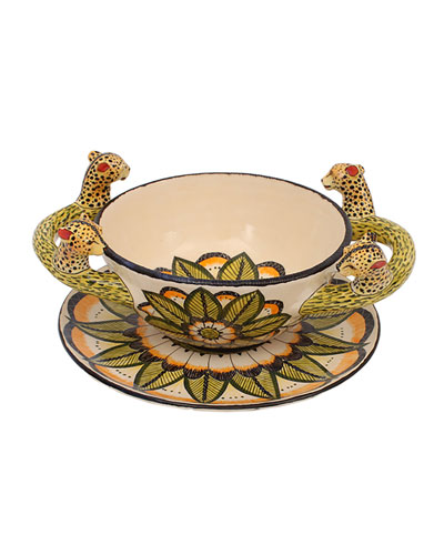Cheetah Soup Bowl