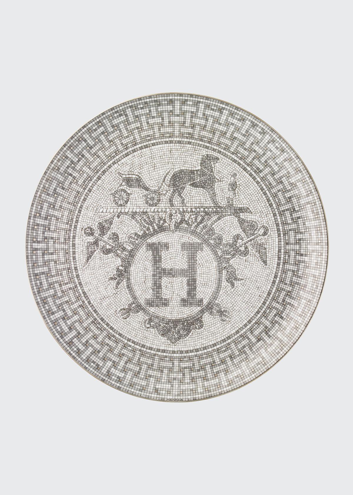 Herm S MOSAIQUE AU 24 PLATINUM TART PLATTER