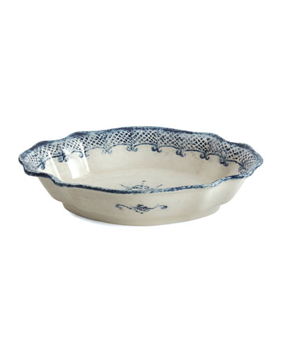Burano Oval Scalloped Bowl