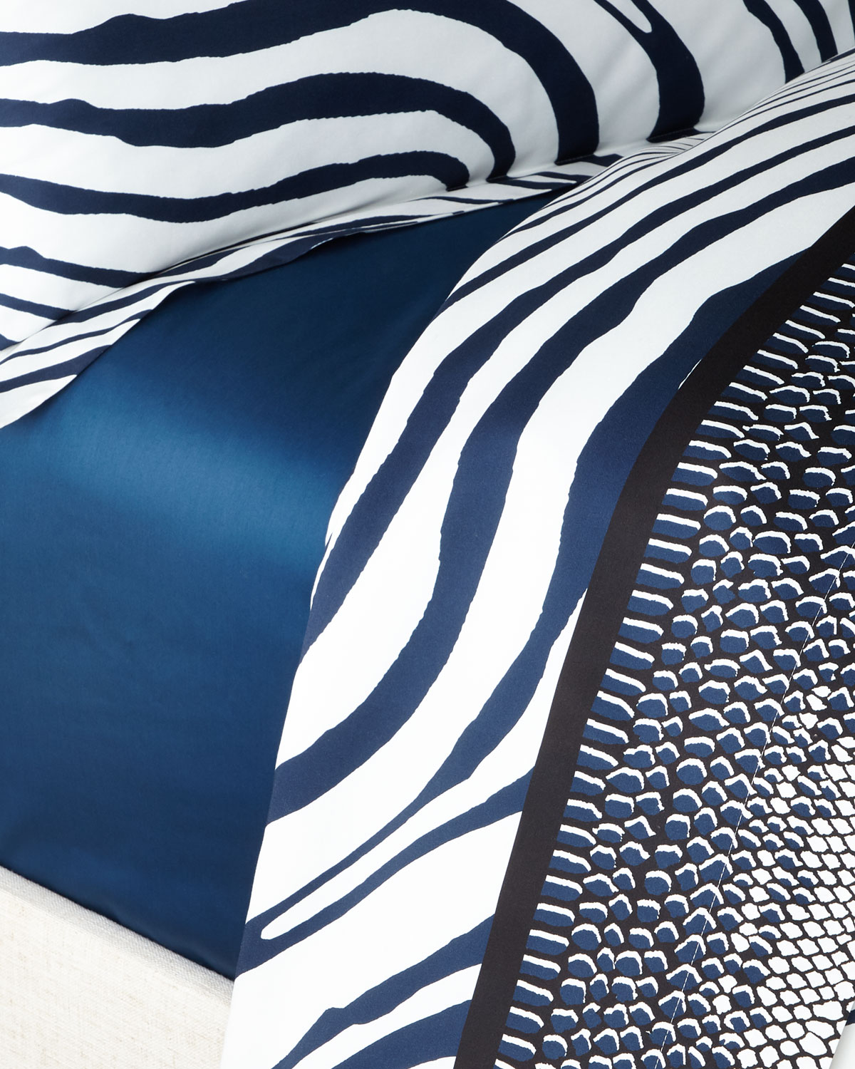 Roberto Cavalli FRAME ZEBRAGE QUEEN FITTED SHEET