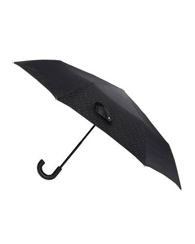 Trafalgar Monogram Logo Jacquard Foldable Umbrella