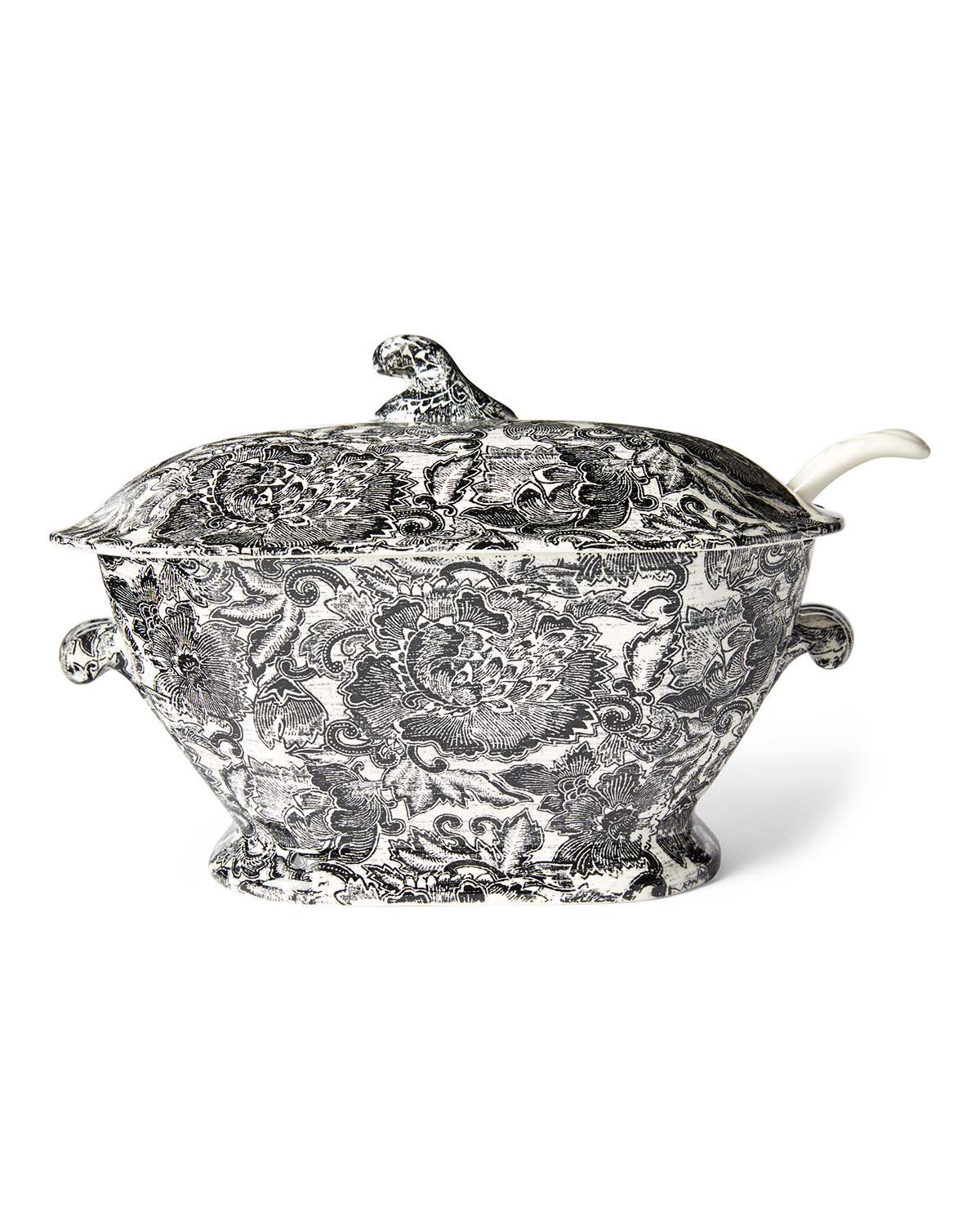 Ralph Lauren Home FADED PEONY SOUP TUREEN