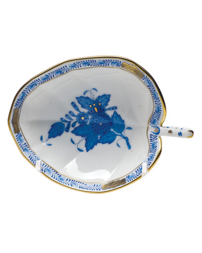 Chinese Bouquet Blue Leaf Tray
