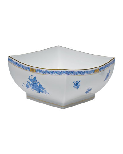 Chinese Bouquet Blue Large Square Bowl