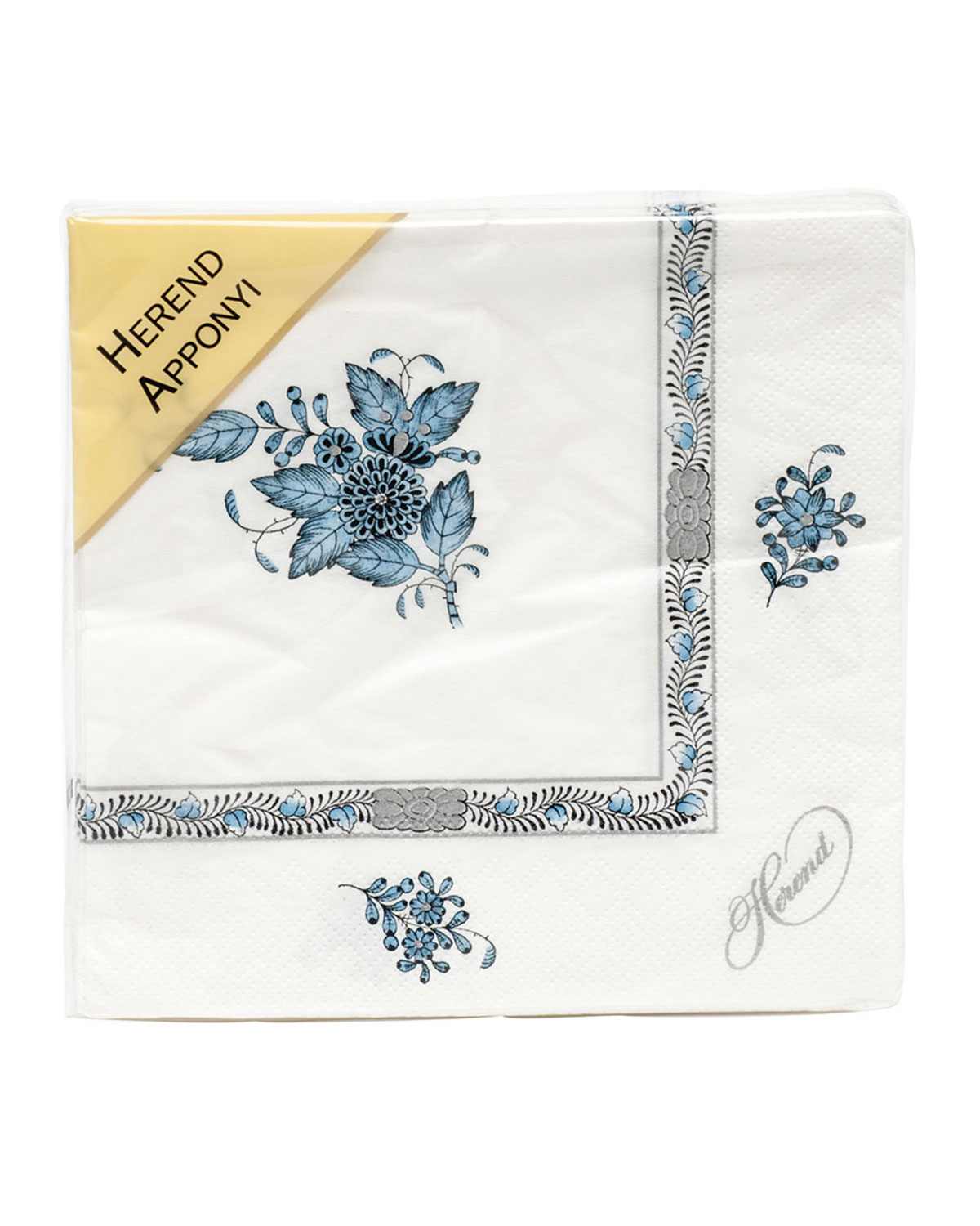 Herend CHINESE BOUTIQUE TURQUOISE PAPER NAPKINS, SET OF 20