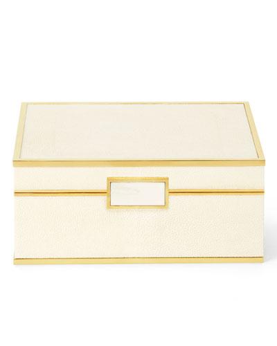 Embossed Shagreen Jewelry Box