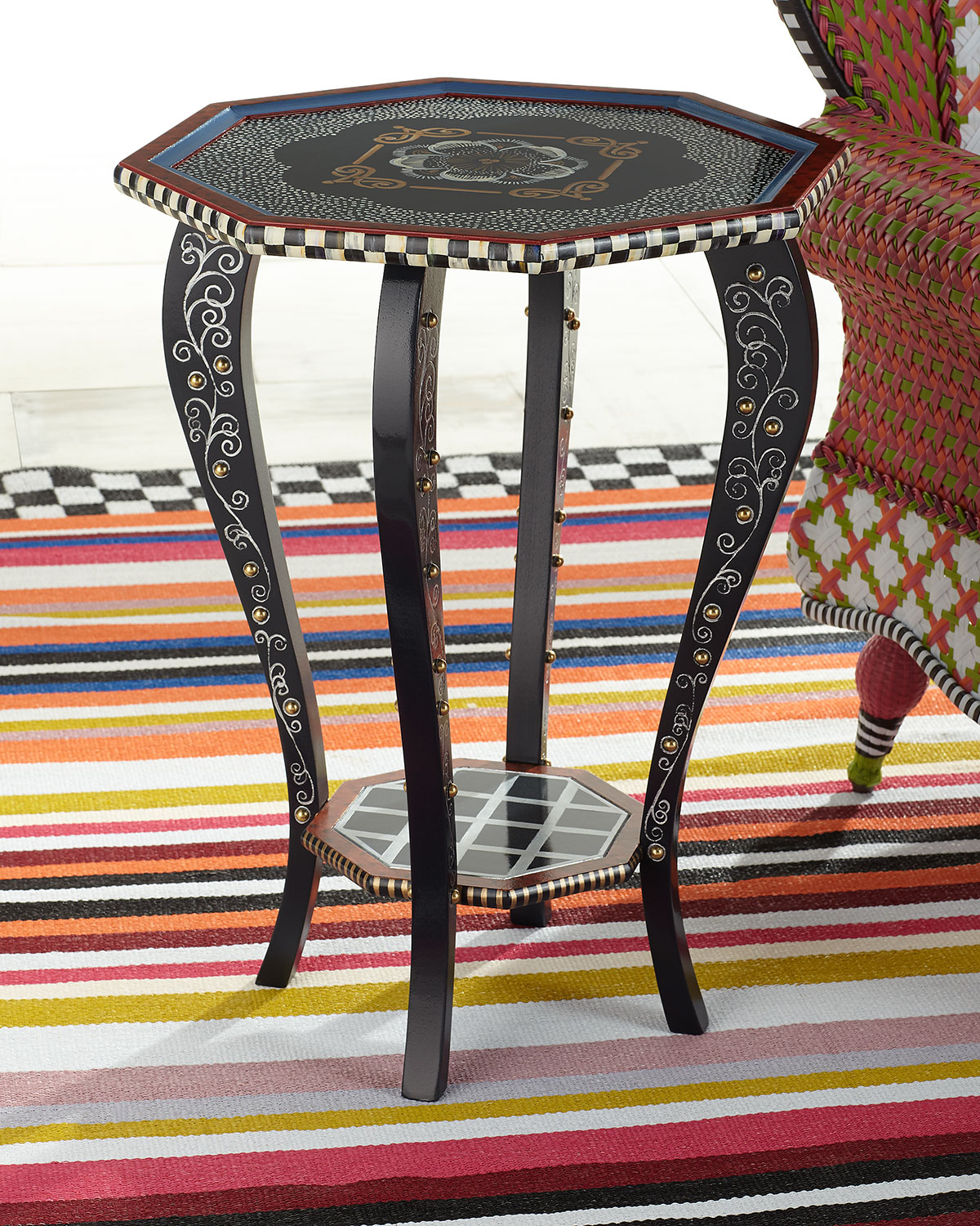 Mackenzie-Childs Furnitures HALCYON TEA TABLE