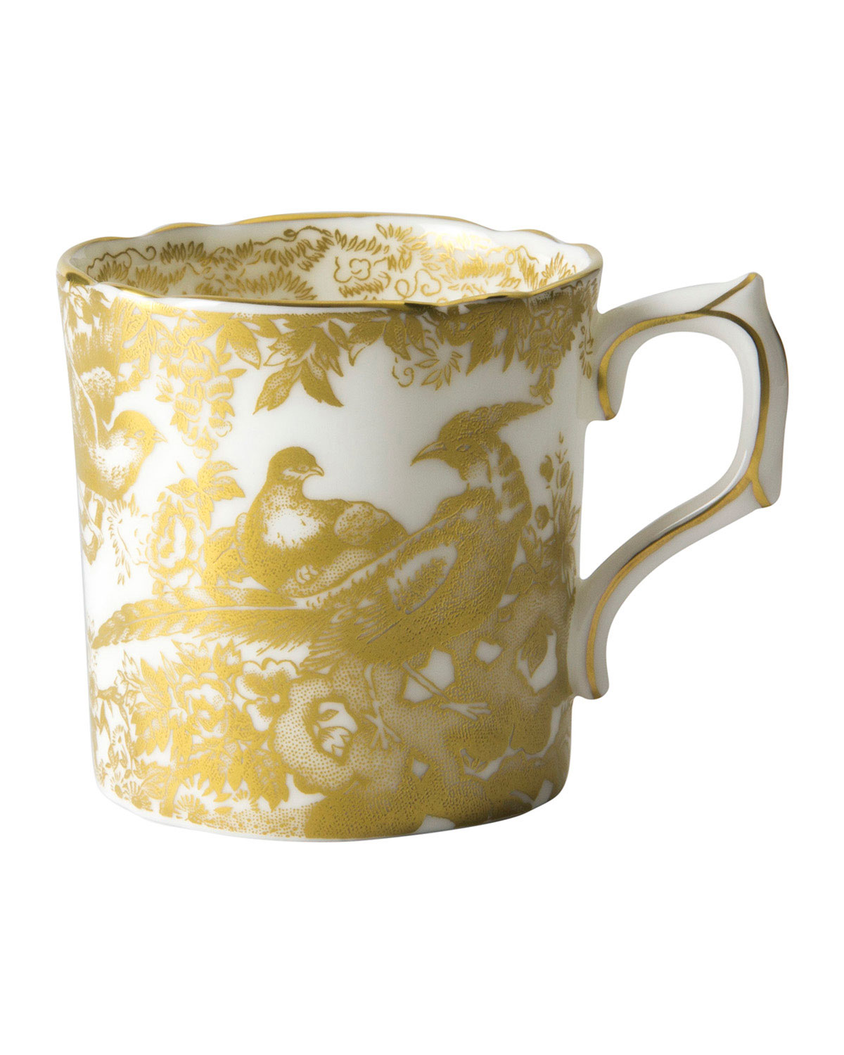 Royal Crown Derby AVES GOLD COFFEE CUP