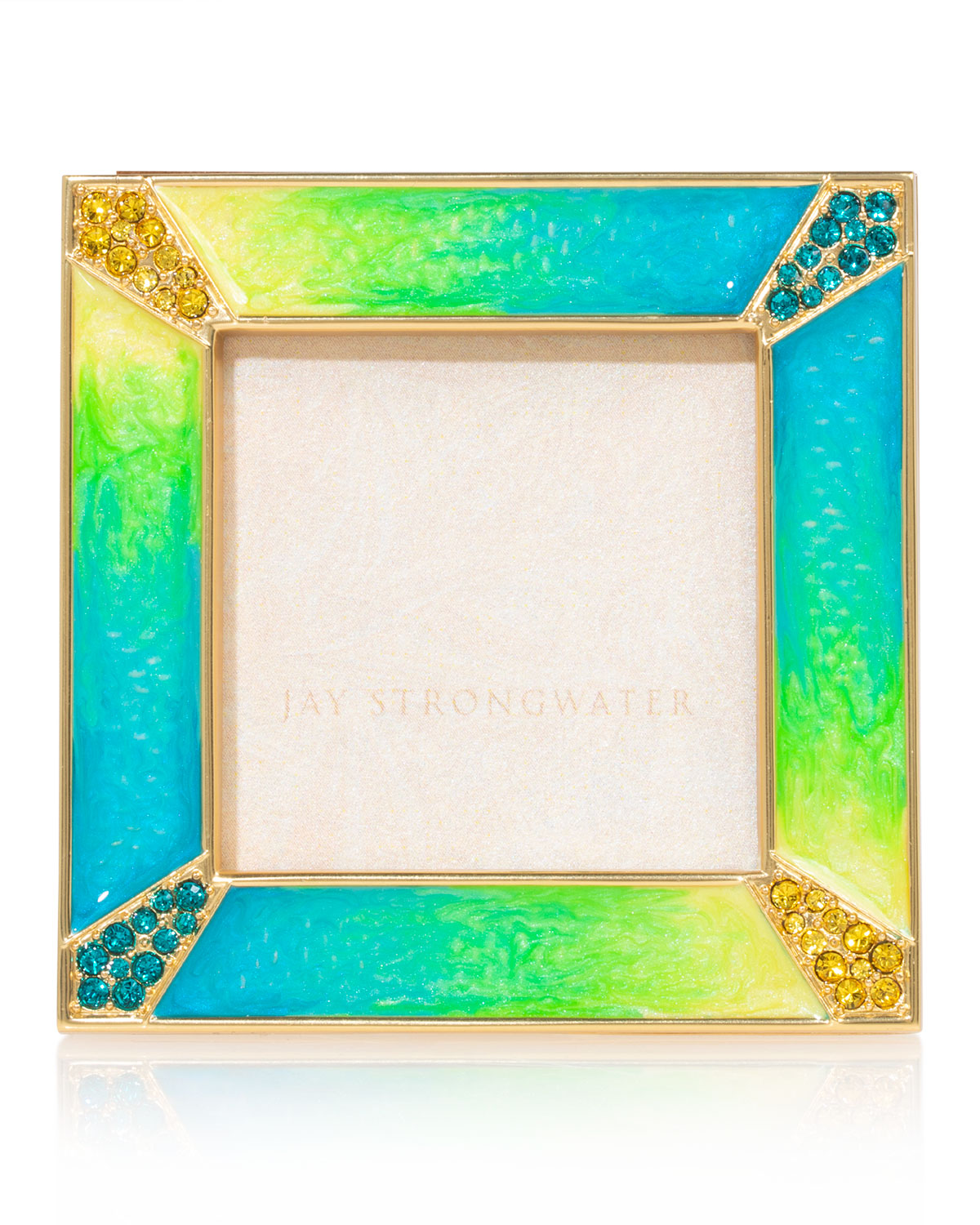 """Jay Strongwater PAVE CORNER PICTURE FRAME, 2"""""""