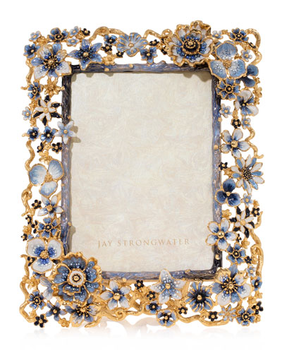 Indigo Cluster Flower Frame, 5