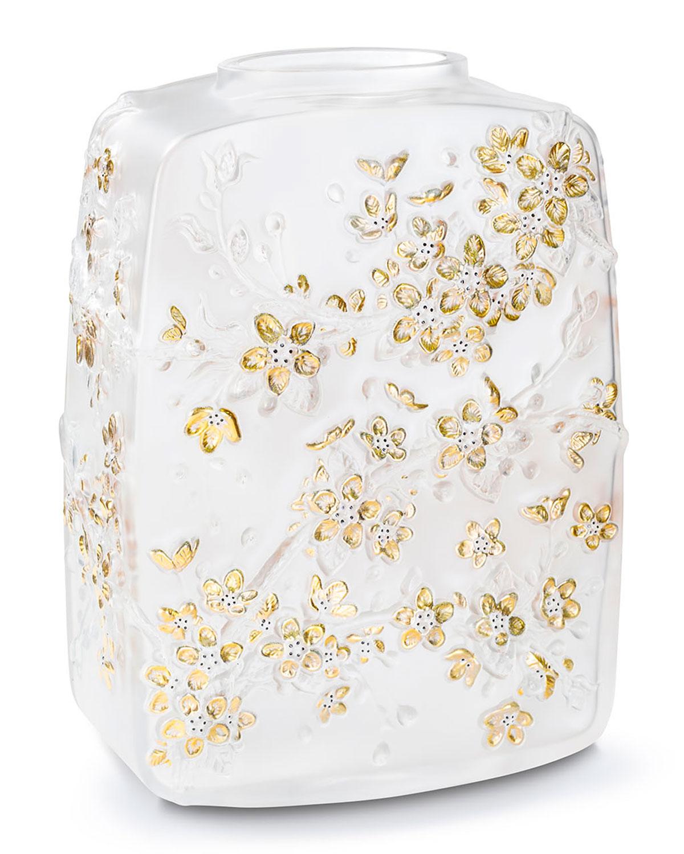Lalique FLEURS DE CERISIER VASE