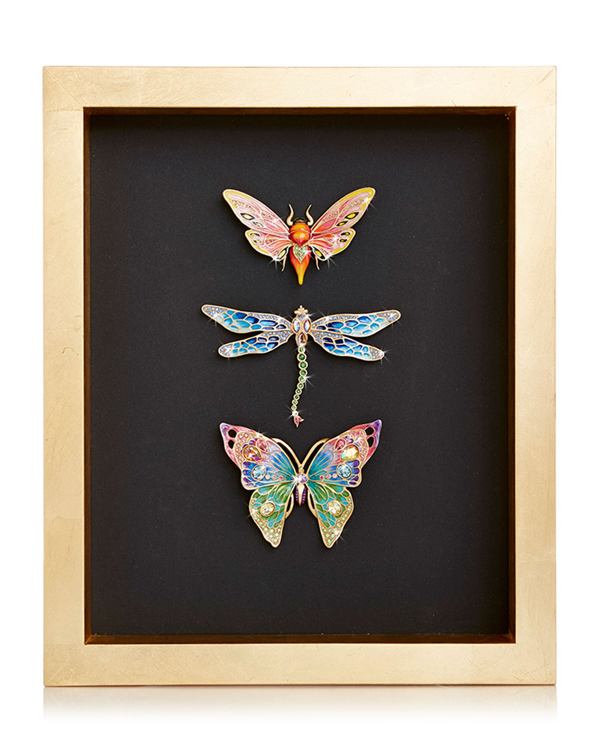 Jay Strongwater BUTTERFLY DRAGONFLY MOTH WALL ART
