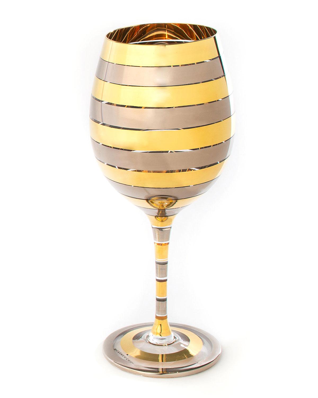 Mackenzie-Childs GOLDEN HOUR WHITE WINE GLASS