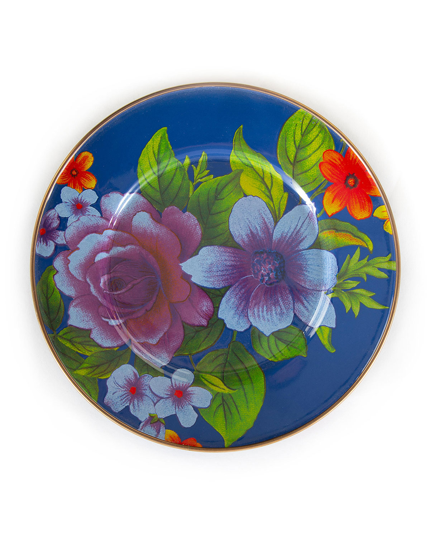 Mackenzie-Childs FLOWER MARKET SALAD/DESSERT PLATE
