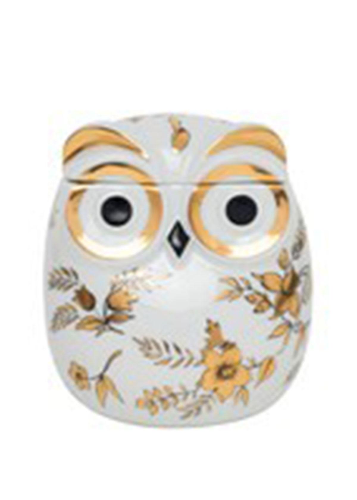 Fornasetti Home decors JAR CIVETTA FIORATA FLORAL OWL