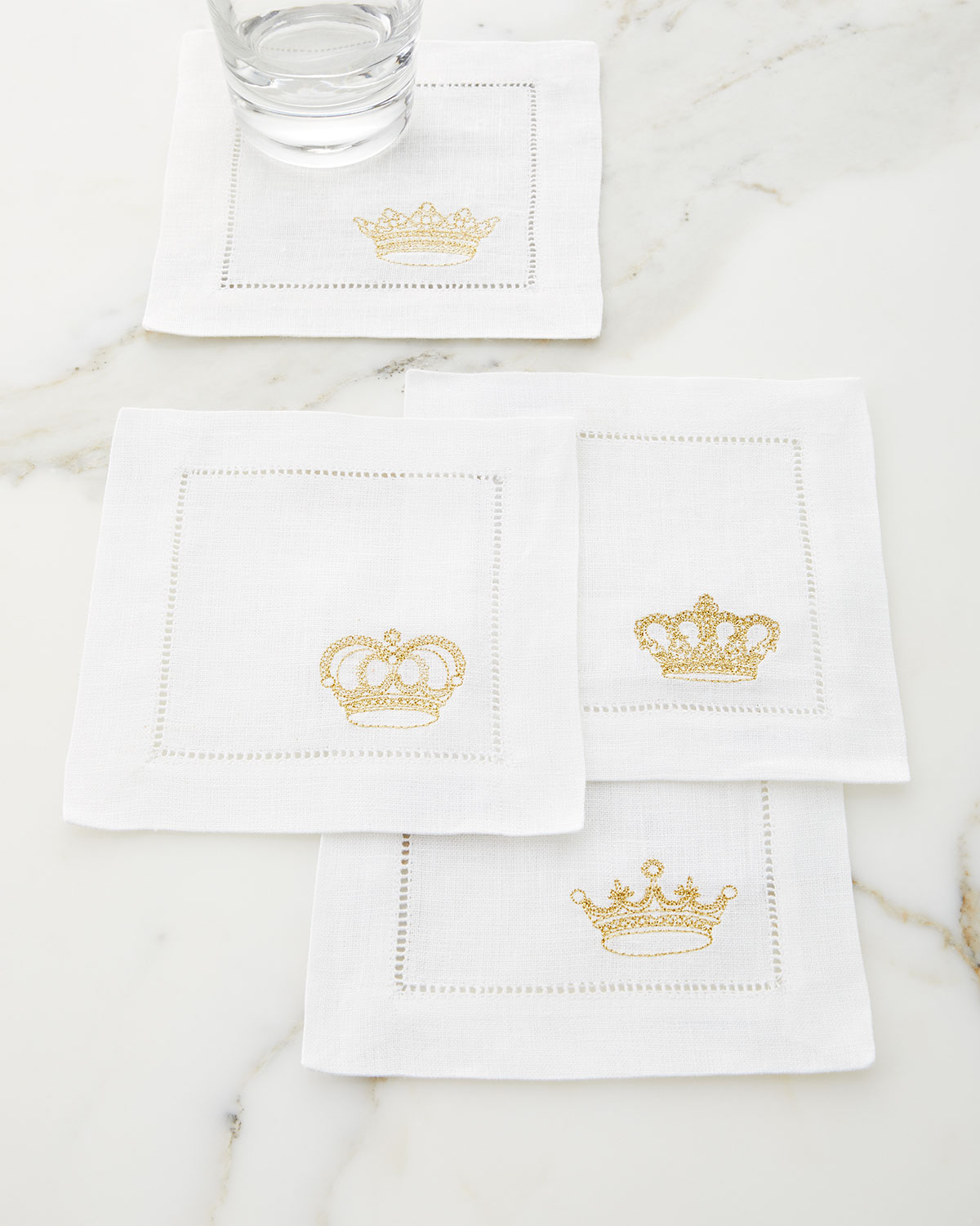 Sferra ROYALTY COCKTAIL NAPKINS, SET OF 4