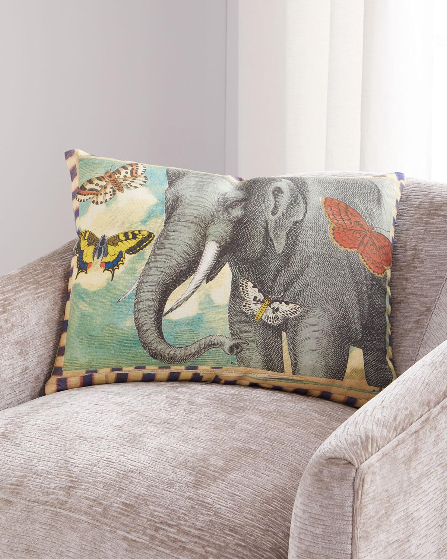 John Derian ELEPHANTS TRUNK SKY PILLOW