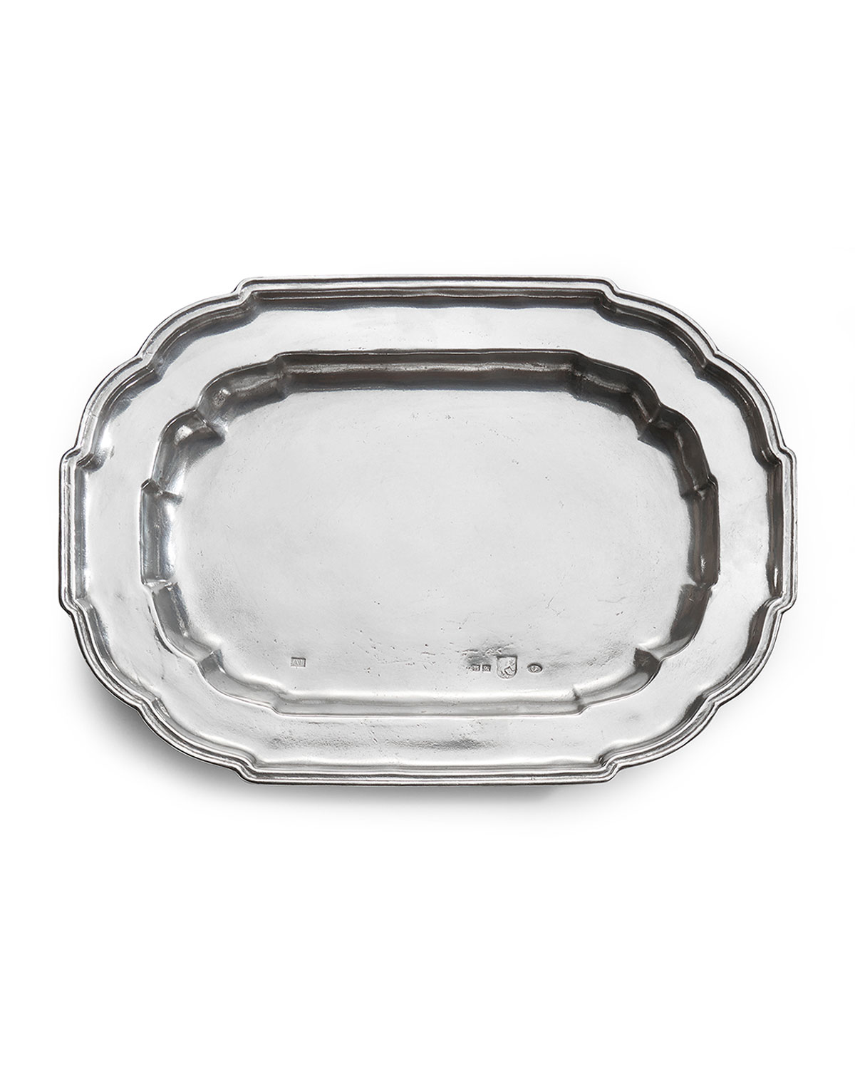 Arte Italica VINTAGE LARGE OVAL SCALLOPED TRAY