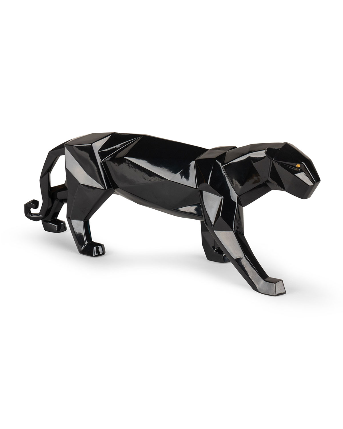 Lladrò ORIGAMI BLACK PANTHER SCULPTURE