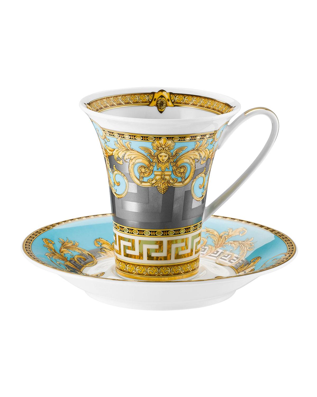 Versace PRESTIGE GALA BLEU COFFEE CUP & SAUCER