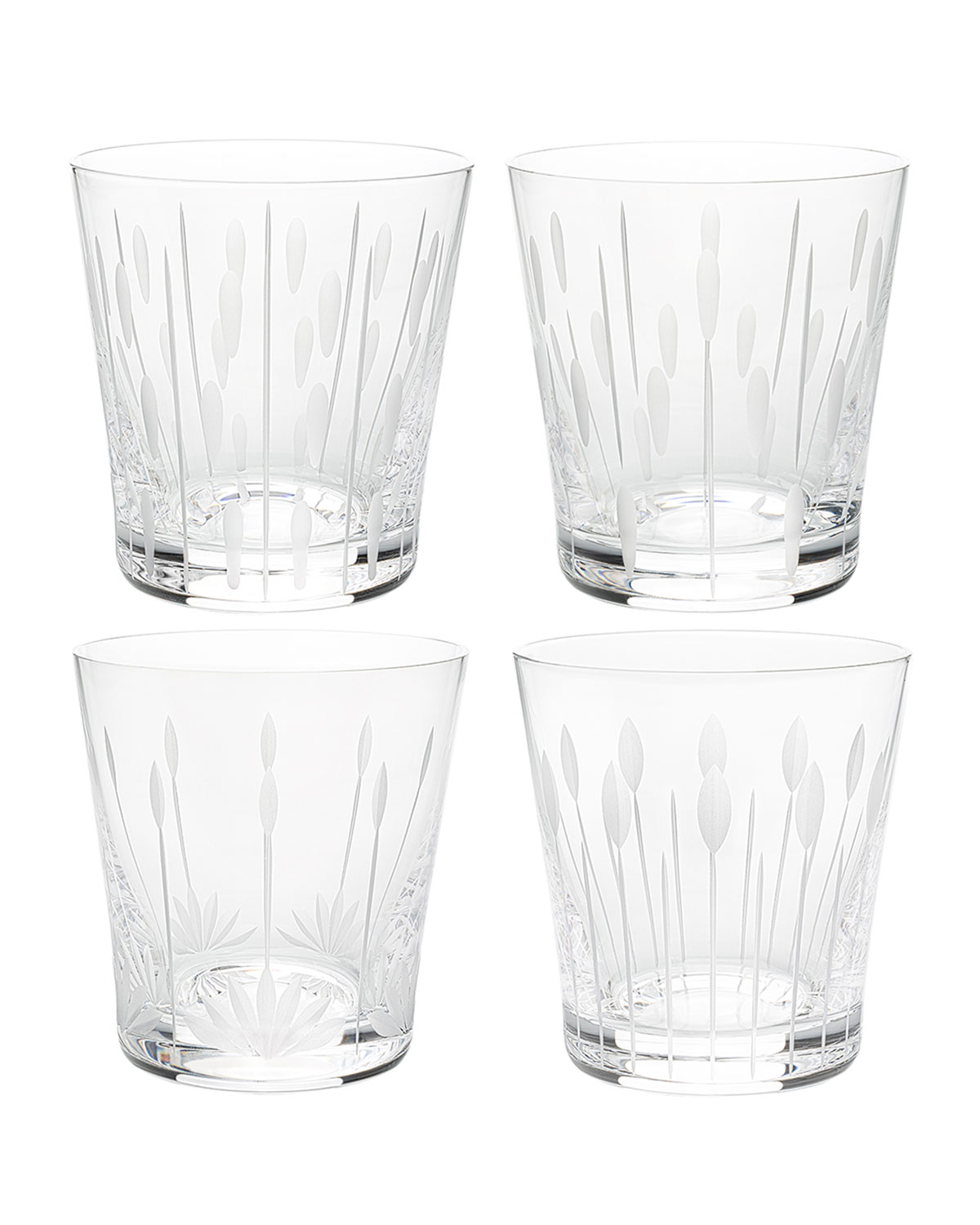 Lalique LOTUS TUMBLERS, SET OF 4