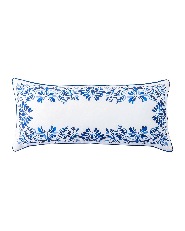 """Juliska Pillows IBERIAN JOURNEY INDIGO PILLOW, 12""""X 27"""""""