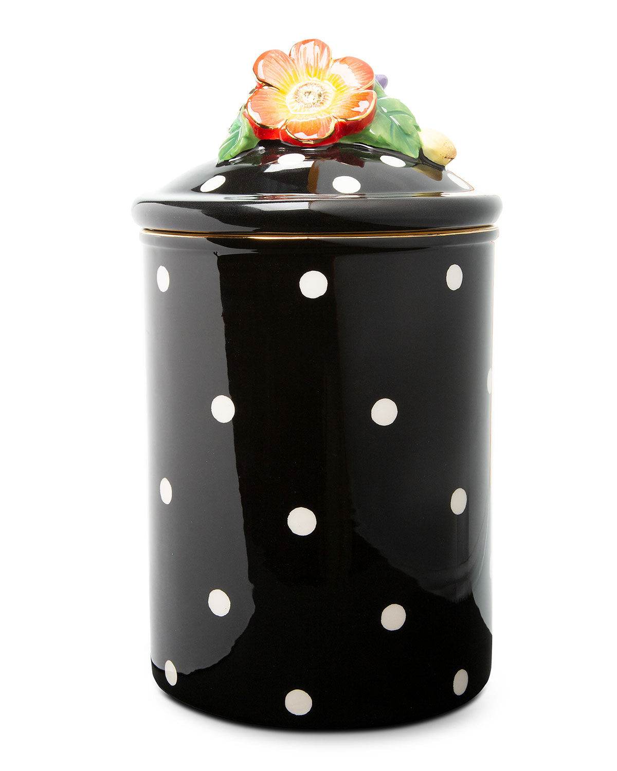 Mackenzie-Childs LARGE FLORADOT CANISTER