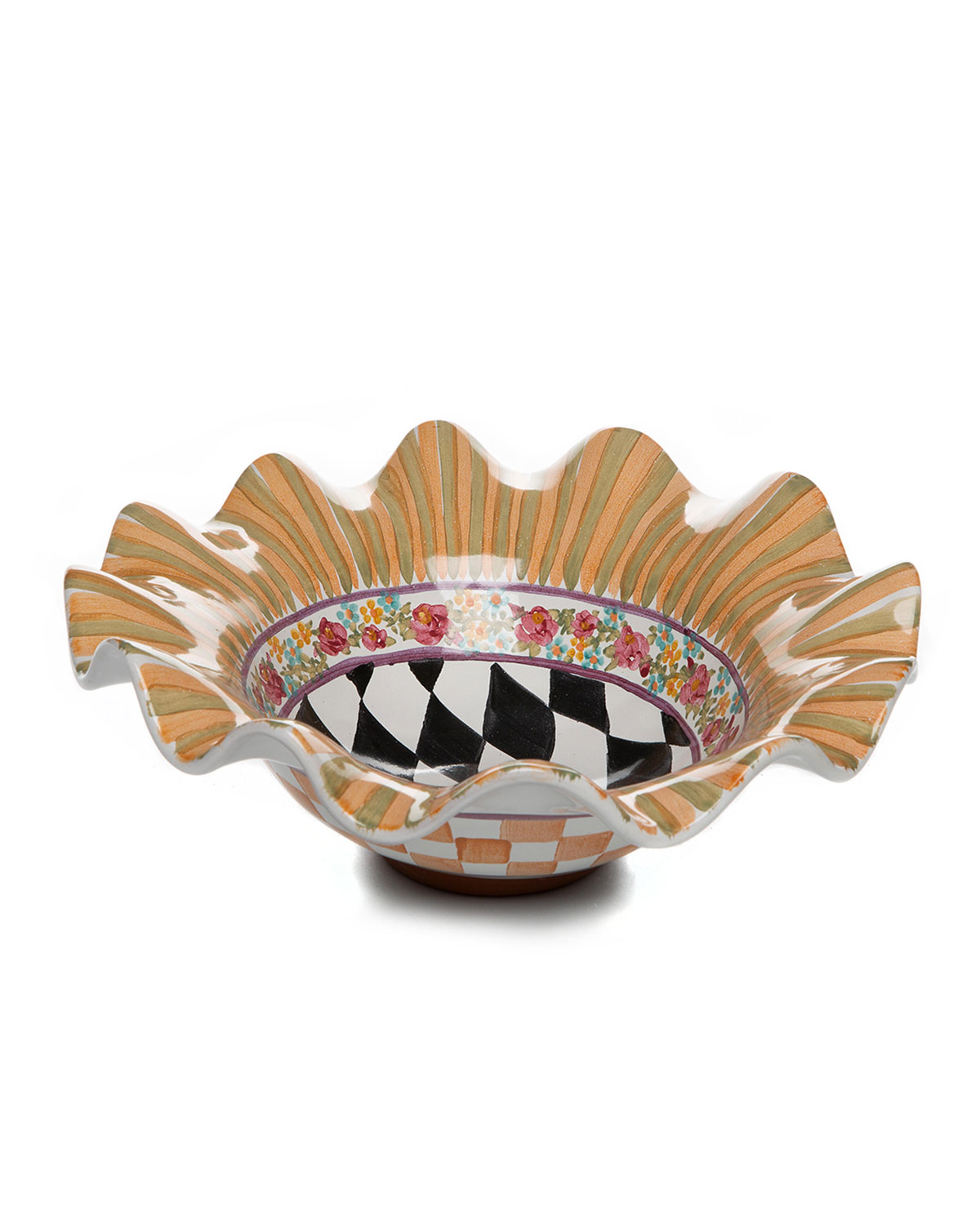 Mackenzie-Childs TAYLOR SMALL SERVING BOWL ODD FELLOWS