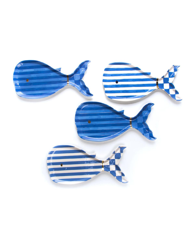 Mackenzie-Childs BIG BLUE SMALL PLATES, SET OF 4