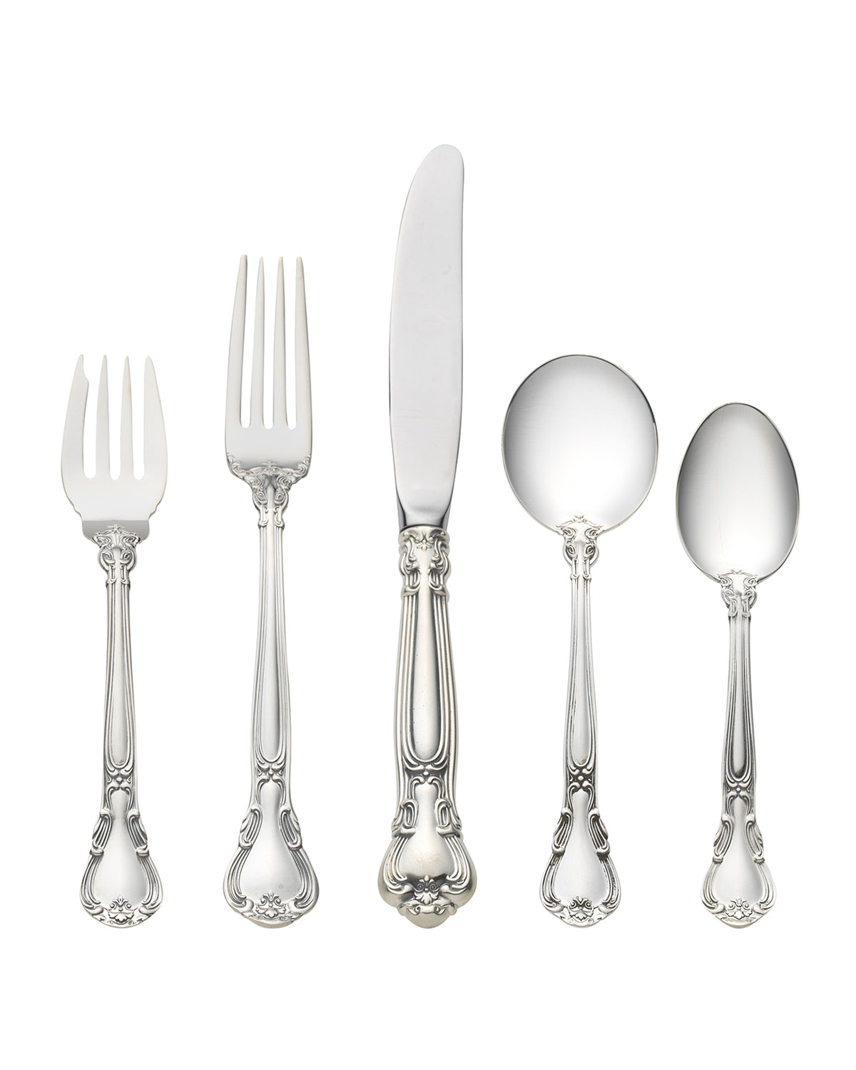 Gorham CHANTILLY 5-PIECE FLATWARE SETTING WITH CREAM SOUP SPOON