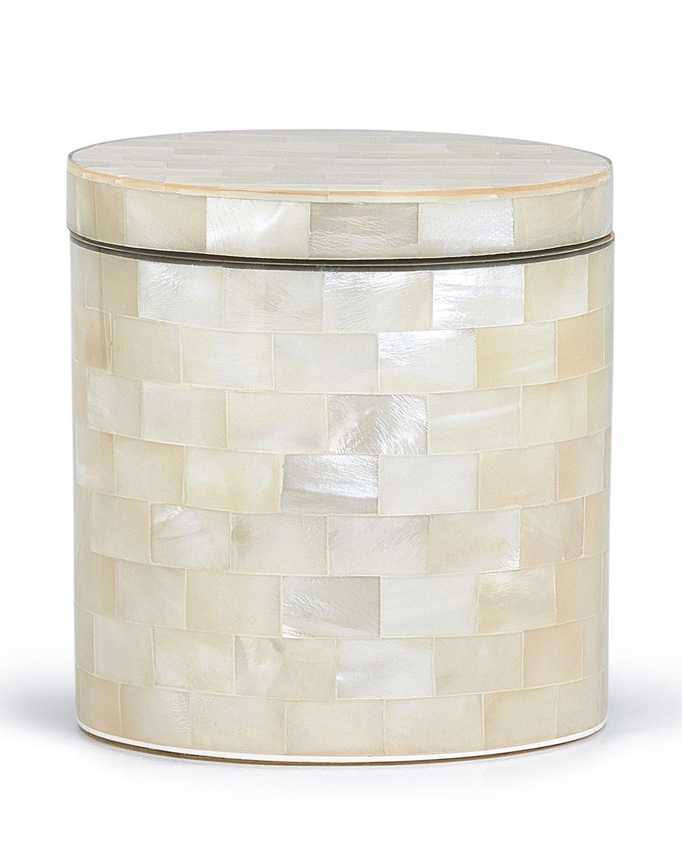 Labrazel WHITE AGATE CANISTER