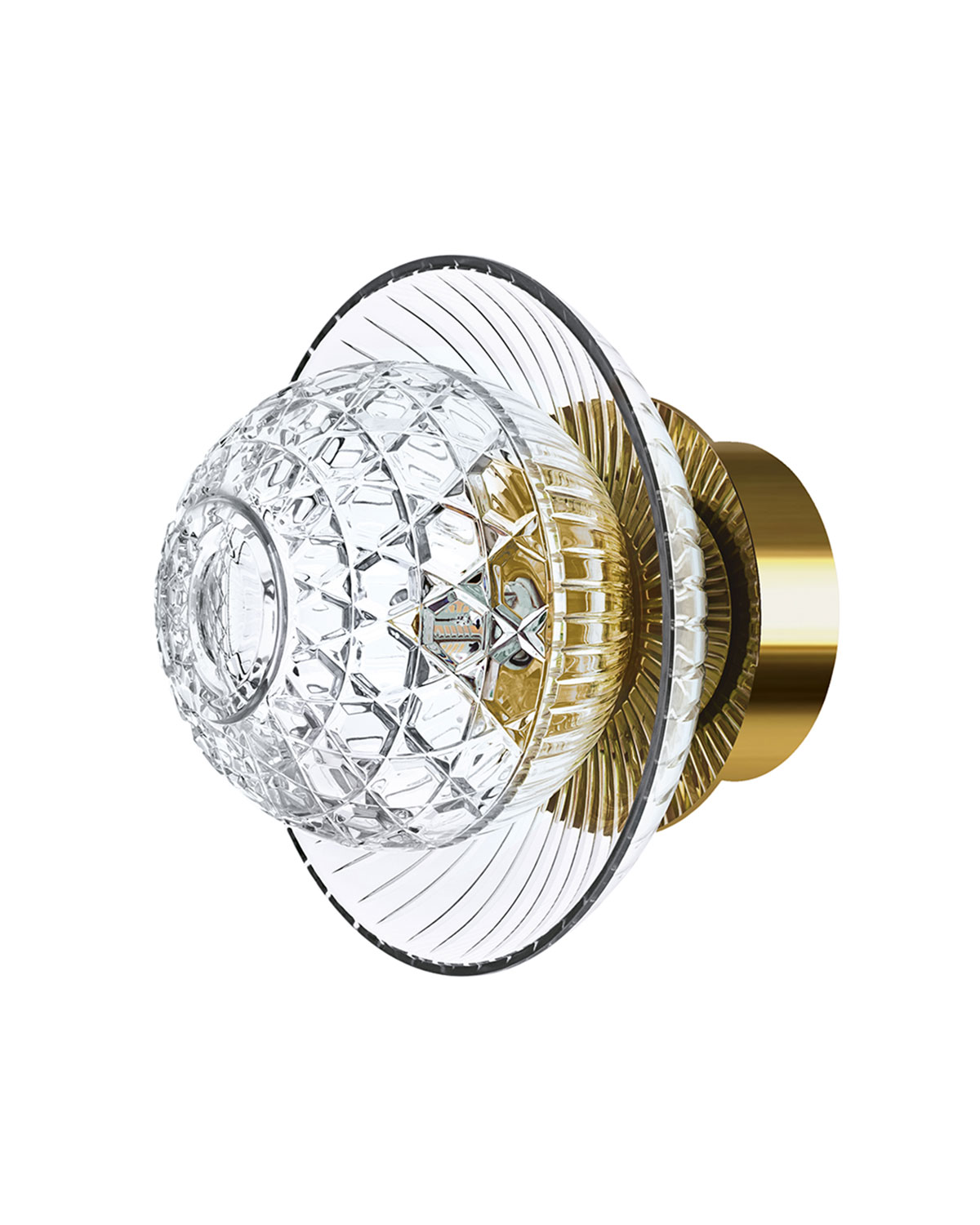 Saint Louis Crystal ROYAL SMALL SCONCE, GOLD