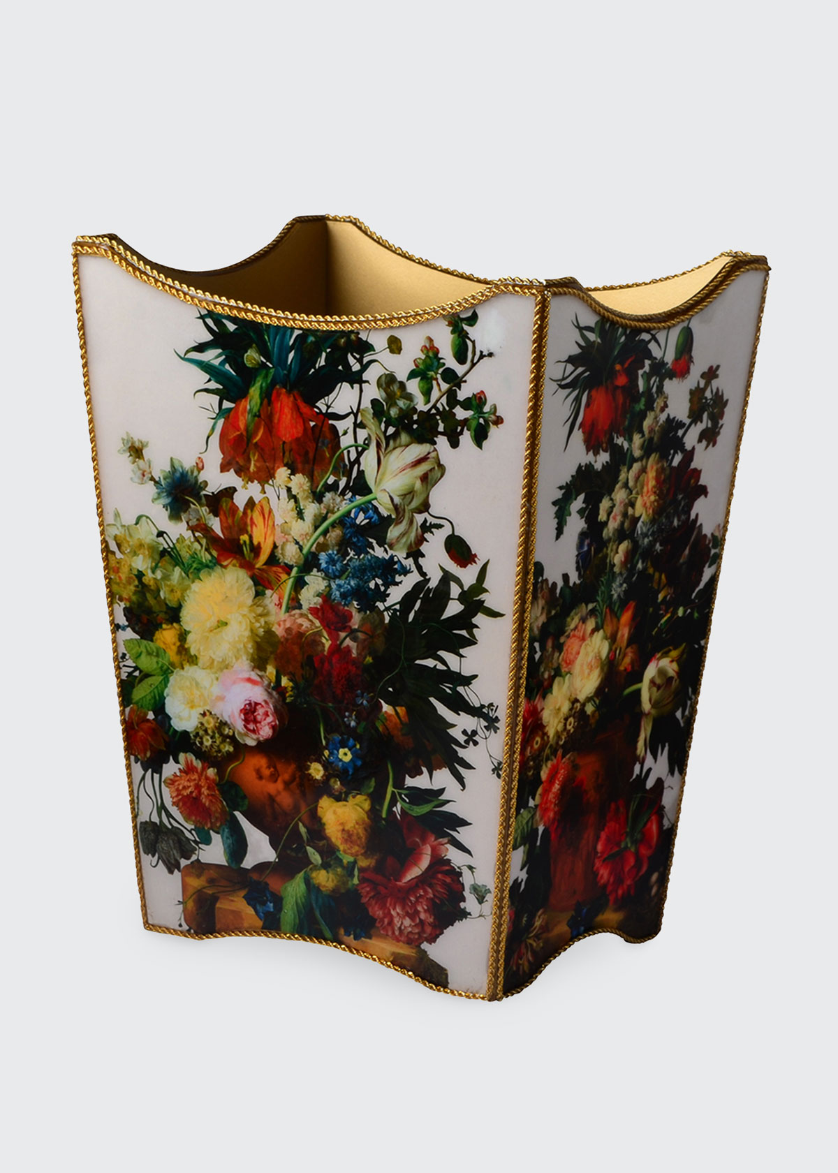 Mike & Ally BOUQUET GOLD WASTEBASKET
