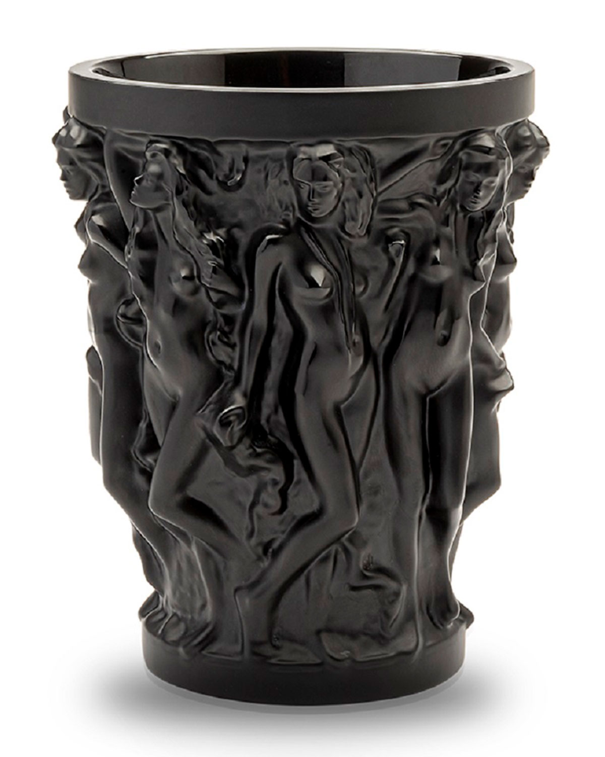 Lalique LIMITED EDITION SIRENES BLACK VASE BY TERRY RODGERS