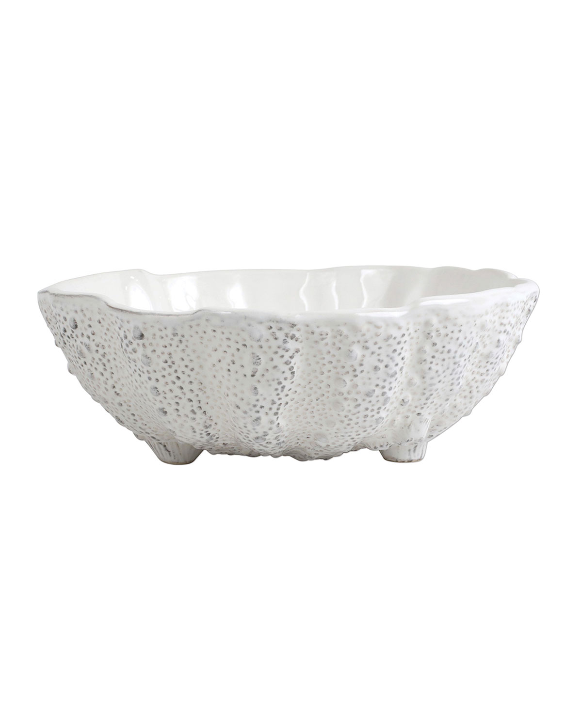 Vietri ACQUATICO WHITE SEA URCHIN MEDIUM BOWL