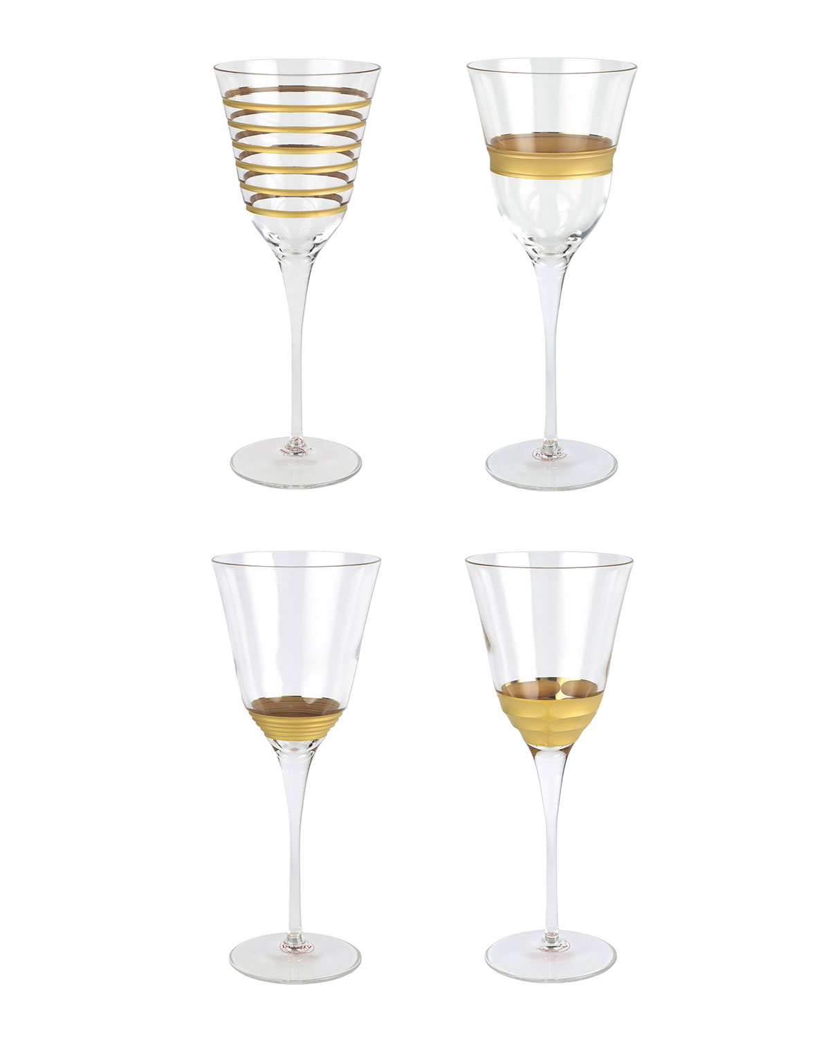Vietri RAFFAELO ASSORTED WINE GLASS, SET OF 4