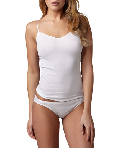 Cotton Seamless Camisole, White