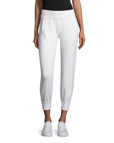 Classic Stretch Performance Jogger Pants, White
