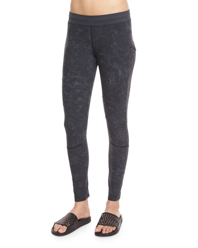 Textured Biker Leggings