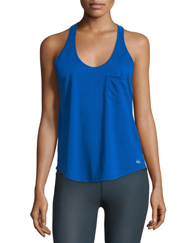 Extreme Racer Mesh Sport Tank Top, Blue