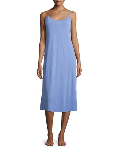 Shangri La Long Jersey Nightgown, Iris