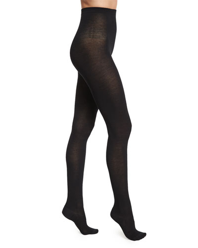 Merino Wool Tights, Black