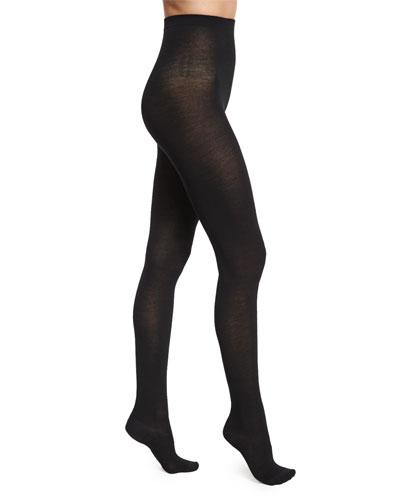 Merino Wool Tights, Black