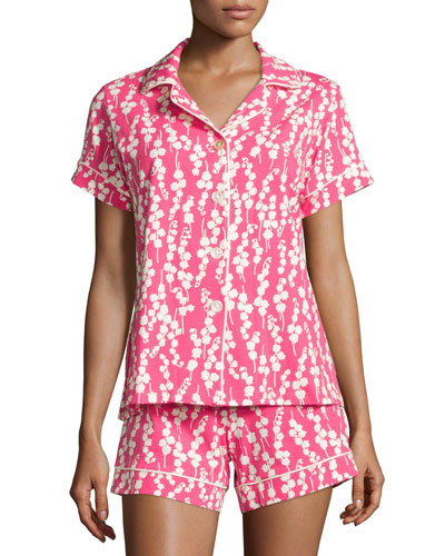 Bellflower Printed Shorty Pajama Set