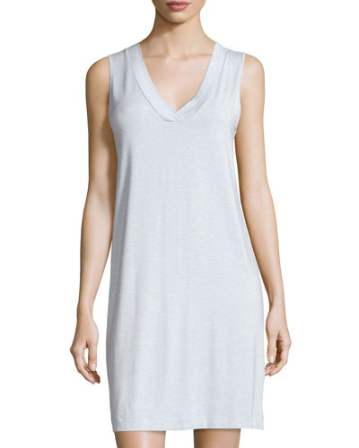 Champagne Tank Nightgown, Ashley Blue